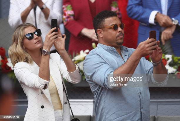 Ronaldo of Brazil attends the match between Rafael Nadal of Spain and Dominic Thiem of Austria in the final during day nine of the Mutua Madrid Open...