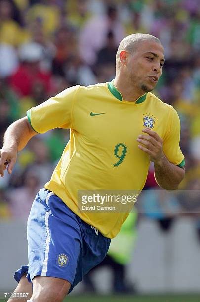Ronaldo of Brazil during the international friendly match between Brazil and New Zealand at the Stadium de Geneva on June 4, 2006 in Geneva ,...