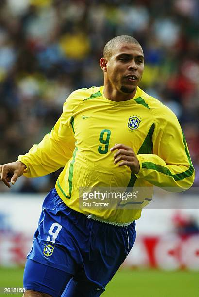 Ronaldo of Brazil in action during the International friendly match between Brazil and Jamaica on October 12, 2003 at The Walkers Stadium in...