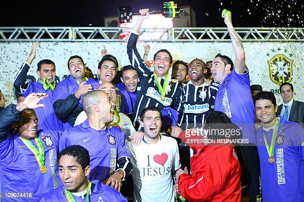 Ronaldo of Corinthians's celebrate on 1st July, 2009 the Brazil's Cup against Internacional at the Beira Rio stadium in Porto Alegre, southern...