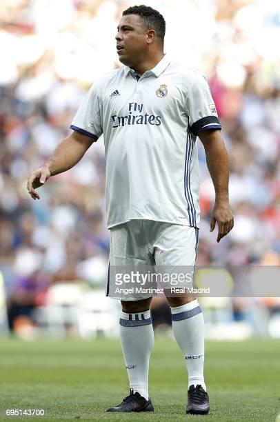 Ronaldo of Real Madrid Legends looks on during the Corazon Classic charity match between Real Madrid Legends and Roma Legends at Estadio Santiago...