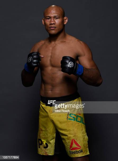 Ronaldo Souza of Brazil poses for a portrait backstage after his victory over Chris Weidman during the UFC 230 event inside Madison Square Garden on...