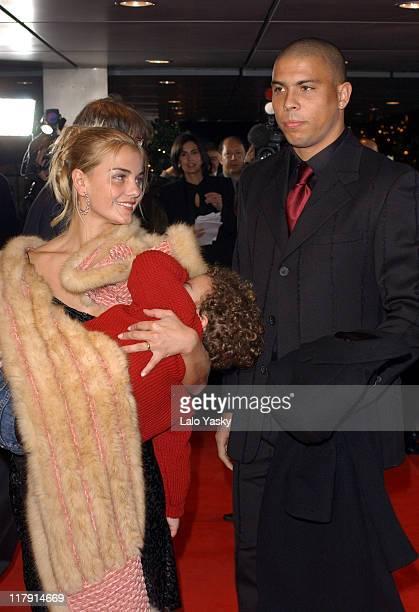 Ronaldo Wife Milene Dominguez Son Arrives to the FIFA World Player Gala 2002 at the Palacio de Congresos in Madrid