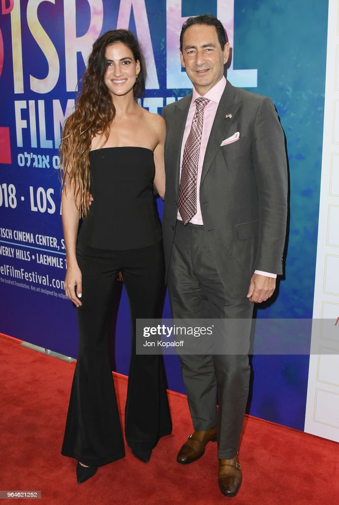 Rona-Lee Shim'on and Adam Berkowitz attend the 32nd Israel Film Festival In Los Angeles Sponsor Luncheon at Four Seasons Hotel Los Angeles at Beverly Hills on May 31, 2018 in Los Angeles, California.