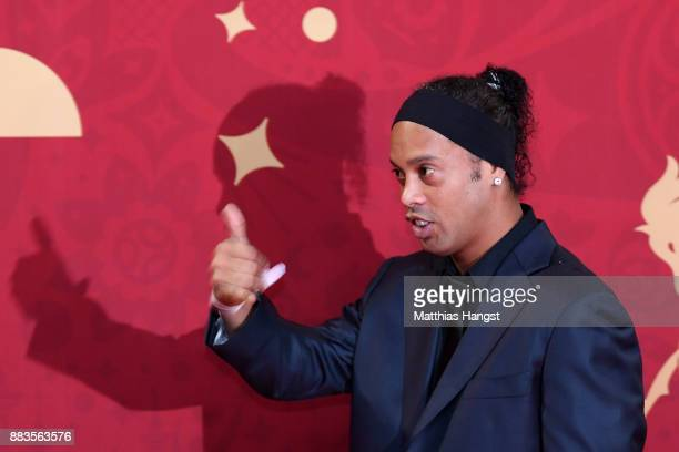 Ronalinho arrives prior to the Final Draw for the 2018 FIFA World Cup Russia at the State Kremlin Palace on December 1 2017 in Moscow Russia