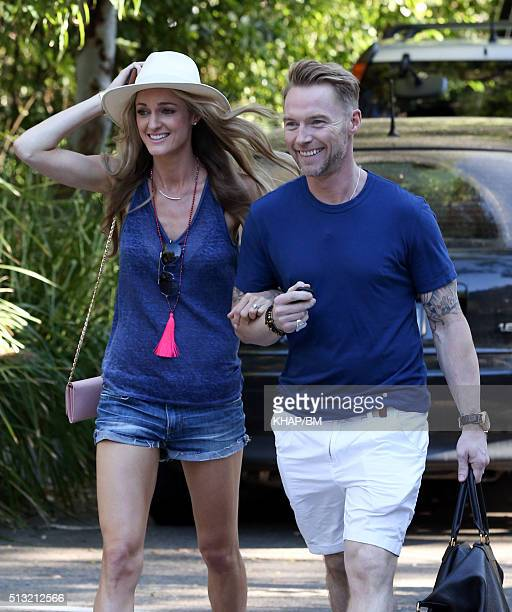Ronan and Storm Keating leave Sun Studios after filming The Voice on March 1 2016 in Sydney Australia