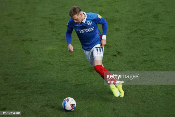 Ronan Curtis of Portsmouth FC during the Sky Bet League One match between Portsmouth and Wigan Athletic at Fratton Park on September 26, 2020 in...