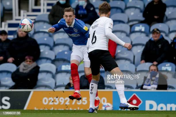 Ronan Curtis of Portsmouth FC during the Sky Bet League One match between Portsmouth and Peterborough United at Fratton Park on December 05, 2020 in...