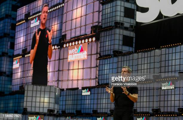 Ronan Dunne Executive Vice President Group CEO Verizon lectures on Are you ready for 5G at Center SAtage of Web Summit in Altice Arena on November 05...