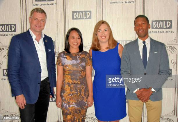 Ronan Dunne Michelle Tan Sarah McBride and Xavier Harding attend Build series to discuss 'Can't We All Thrive The Future of Work' at Build Studio on...