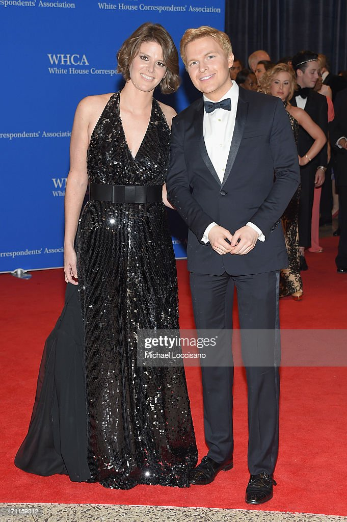 Ronan Farrow and a guest attend the 101st Annual White House Correspondents' Association Dinner at the Washington Hilton on April 25, 2015 in Washington, DC.