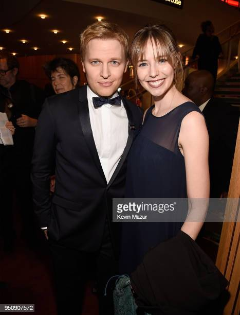 Ronan Farrow and Emily Nestor attend the 2018 Time 100 Gala at Jazz at Lincoln Center on April 24 2018 in New York CityÊ