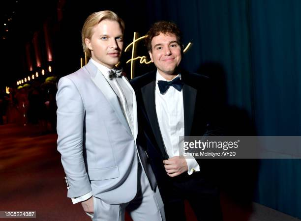 Ronan Farrow and Jon Lovett attend the 2020 Vanity Fair Oscar Party hosted by Radhika Jones at Wallis Annenberg Center for the Performing Arts on...