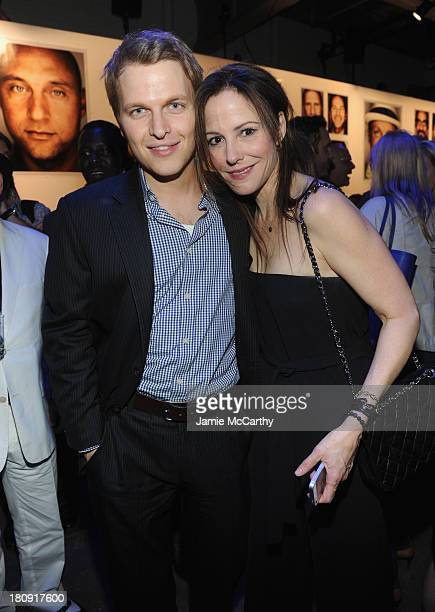 Ronan Farrow and MaryLouise Parker attend the Esquire 80th anniversary and Esquire Network launch celebration at Highline Stages on September 17 2013...