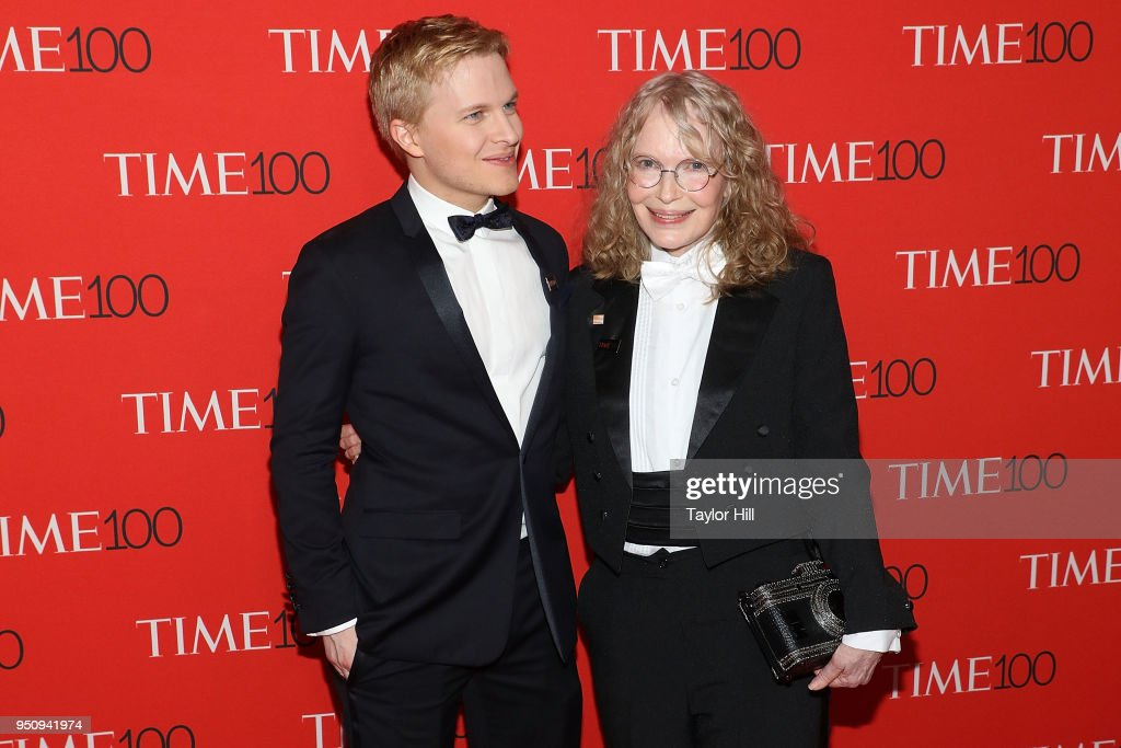 Ronan Farrow and Mia Farrow attend the 2018 Time 100 Gala at Frederick P. Rose Hall, Jazz at Lincoln Center on April 24, 2018 in New York City.