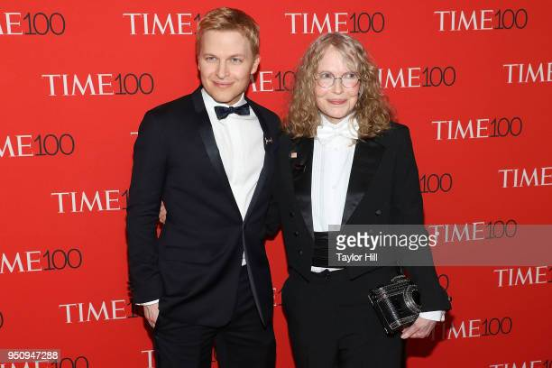 Ronan Farrow and Mia Farrow attend the 2018 Time 100 Gala at Frederick P Rose Hall Jazz at Lincoln Center on April 24 2018 in New York City