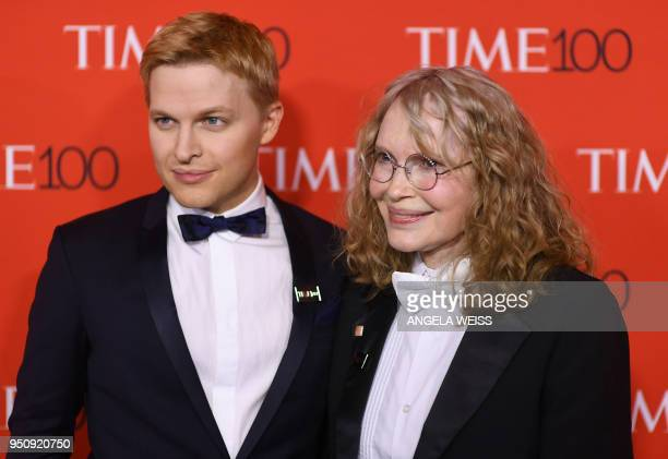 TOPSHOT Ronan Farrow and Mia Farrow attend the TIME 100 Gala celebrating its annual list of the 100 Most Influential People In The World at Frederick...