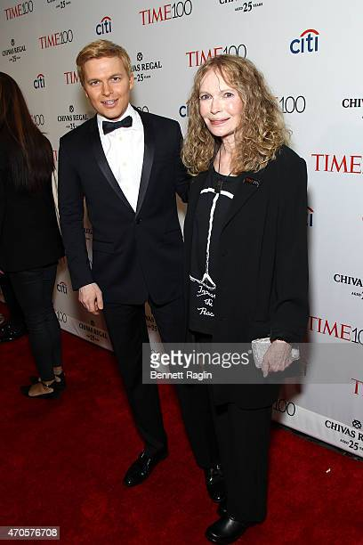 Ronan Farrow and Mia Farrow attend the TIME 100 Gala TIME's 100 Most Influential People In The World at Jazz at Lincoln Center on April 21 2015 in...