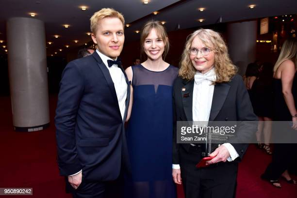 Ronan Farrow Emily Nestor and Mia Farrow attend the 2018 TIME 100 Gala at Jazz at Lincoln Center on April 24 2018 in New York City