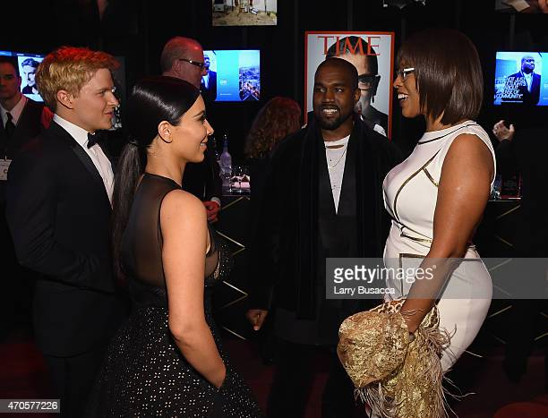 Ronan Farrow Kim Kardashian Kanye West and Gayle King attend TIME 100 Gala TIME's 100 Most Influential People In The World on April 21 2015 in New...