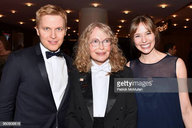 Ronan Farrow Mia Farrow and Emily Nestor attend the 2018 TIME 100 Gala at Jazz at Lincoln Center on April 24 2018 in New York City