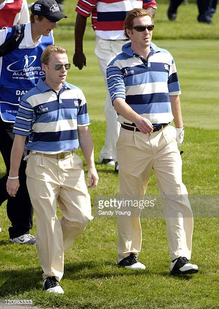 Ronan Keating and Damien Lewis during The Northern Rock All Star Charity Gala Golf Tournament Day 1 at Celtic Manor Resort in Newport Great Britain