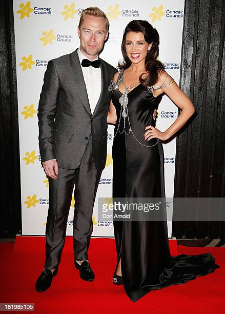 Ronan Keating and Dannii Minogue arrive at the 2013 Emeralds Ivy Ball at Daltone House Pyrmont on September 27 2013 in Sydney Australia This annual...