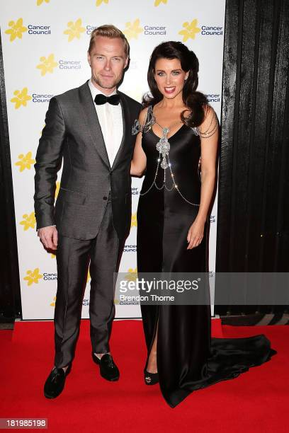 Ronan Keating and Dannii Minogue arrive at the 2013 Emeralds Ivy Ball at Doltone House Pyrmont on September 27 2013 in Sydney Australia The annual...