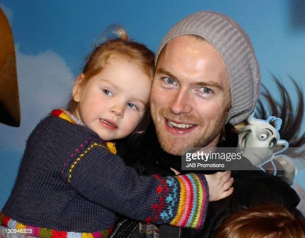 """Ronan Keating and daughter Ali Keating attend the """"Horton Hears a Who!"""" VIP Screening at the Vue West End on March 2, 2008 in London England."""
