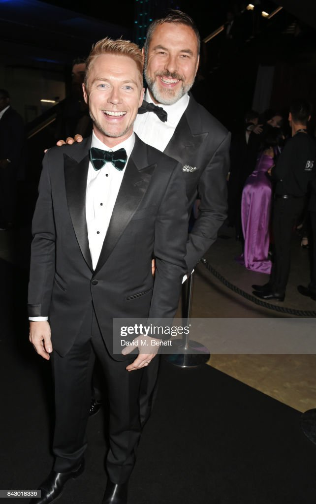 Ronan Keating (L) and David Walliams attend the GQ Men Of The Year Awards at the Tate Modern on September 5, 2017 in London, England.