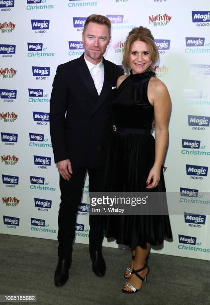 Ronan Keating and Harriet Scott attend the Magic Of Christmas in association with Magic FM at London Palladium on November 24 2018 in London England