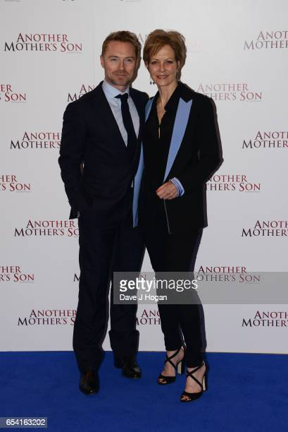 Ronan Keating and Jenny Seagrove attend the World Premiere of 'Another Mother's Son' on March 16 2017 in London England