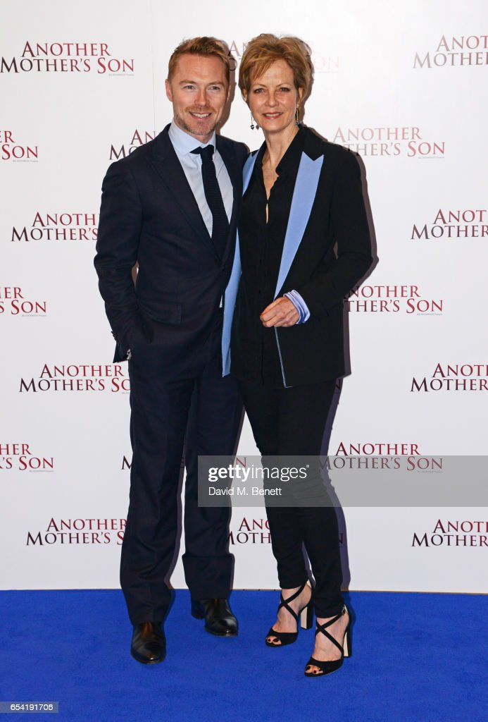 Ronan Keating (L) and Jenny Seagrove attend the World Premiere of 'Another Mother's Son' on March 16, 2017 in London, England.