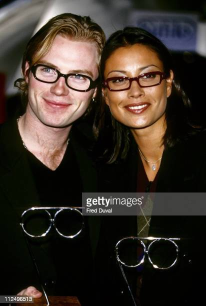 Ronan Keating and Melanie Sykes during Spectacle Wearers Awards 1998 in London Great Britain