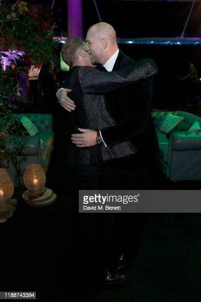 Ronan Keating and Mike Tindall attend the 13th annual Emeralds & Ivy Ball in partnership with Cancer Research UK and The Marie Keating Foundation at...