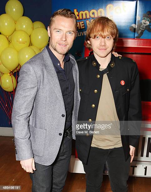 Ronan Keating and Rupert Gring attend the World Premiere of 'Postman Pat' at Odeon West End on May 11 2014 in London England