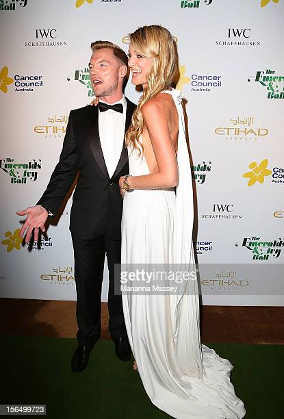Ronan Keating and Storm Keating arrive at The Ivy on November 16 2012 in Sydney Australia for the Emerald and Ivy Ball