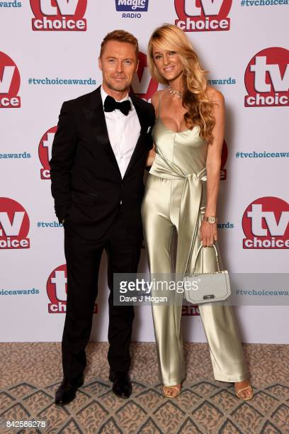 Ronan Keating and Storm Keating arrive at the TV Choice Awards at The Dorchester on September 4 2017 in London England