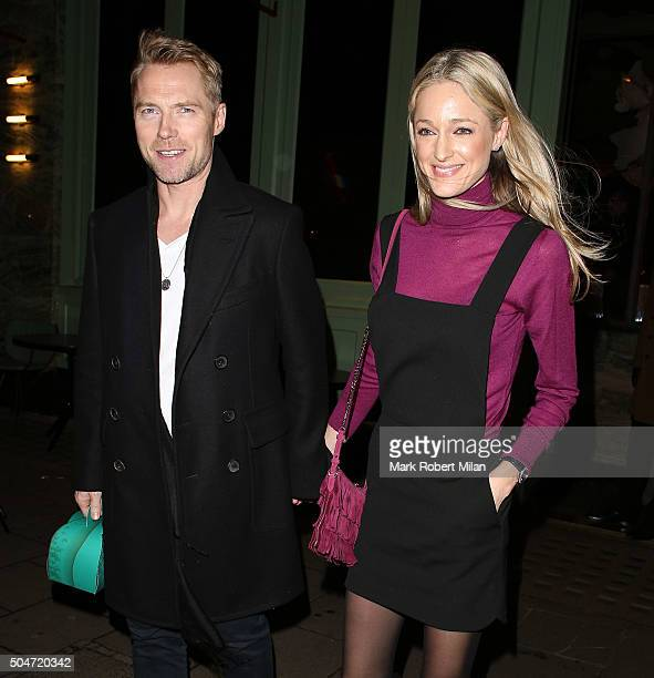 Ronan Keating and Storm Keating at Sexy Fish Restaurant on January 12 2016 in London England