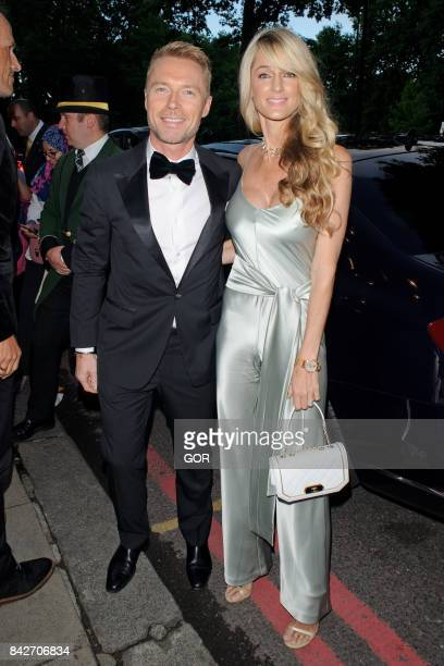 Ronan Keating and Storm Keating at the TV Choice awards at the Dorchester hotel on September 4, 2017 in London, England.