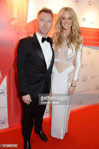 Ronan Keating and Storm Keating attend the 12th annual Emeralds Ivy Ball in aid of Cancer Research UK and The Marie Keating Foundation at The Royal...