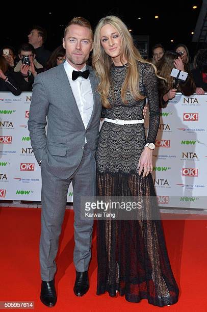 Ronan Keating and Storm Keating attend the 21st National Television Awards at The O2 Arena on January 20 2016 in London England