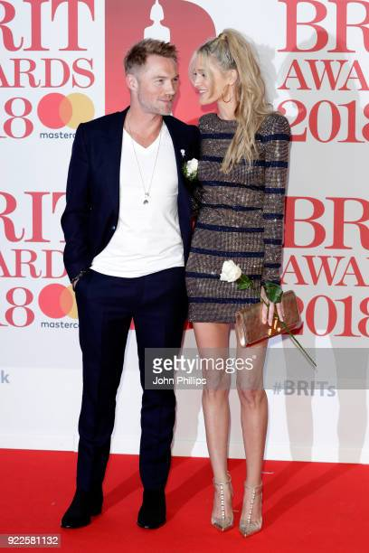 AWARDS 2018*** Ronan Keating and Storm Keating attend The BRIT Awards 2018 held at The O2 Arena on February 21 2018 in London England