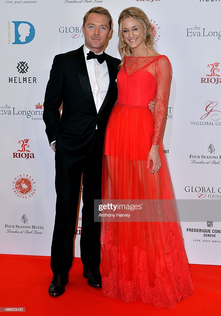 Ronan Keating and Storm Keating attend The Global Gift Gala at Four Seasons Hotel on November 30, 2015 in London, England.