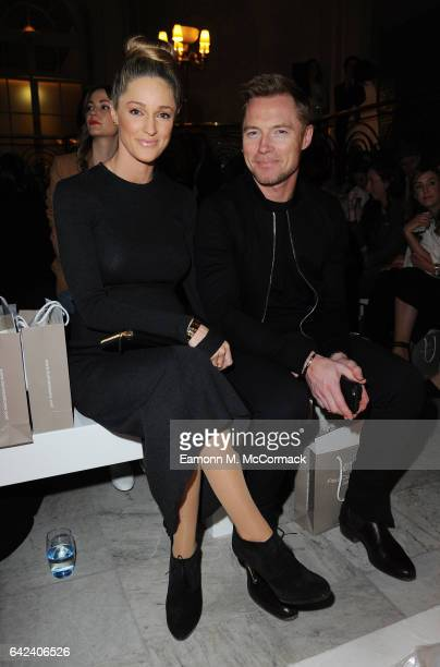Ronan Keating and Storm Keating attend the Paul Costelloe show during the London Fashion Week February 2017 collections on February 17 2017 in London...