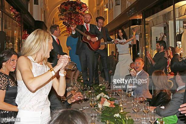 Ronan Keating and Storm Keating attend the summer dinner hosted by Harrys of London and Mr Porter at Burlington Arcade on July 8 2015 in London...
