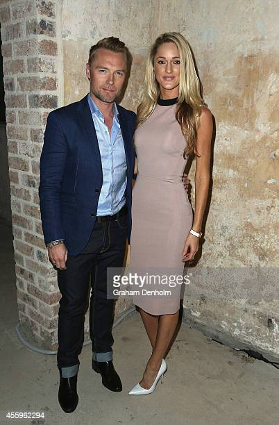 Ronan Keating and Storm Keating attend the Tiffany T collection launch on September 23 2014 in Sydney Australia