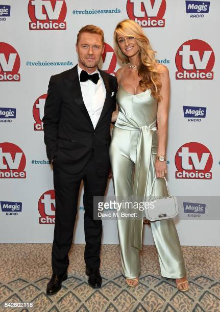 Ronan Keating and Storm Keating attend the TV Choice Awards at The Dorchester on September 4 2017 in London England