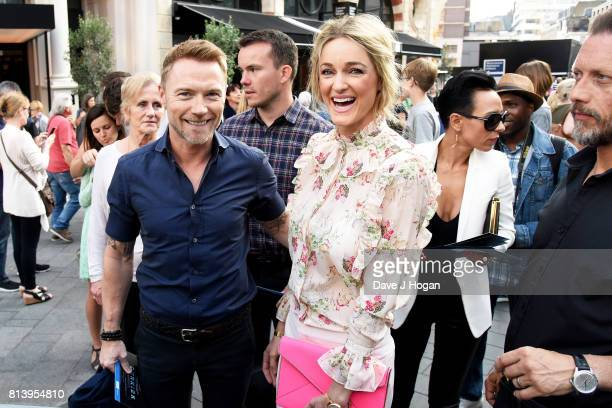 Ronan Keating and Storm Keating attend the world premiere of 'Dunkirk' at Odeon Leicester Square on July 13 2017 in London England