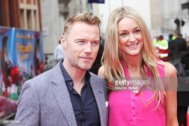 Ronan Keating and Storm Keating attend the World Premiere of 'Postman Pat' at Odeon West End on May 11 2014 in London England